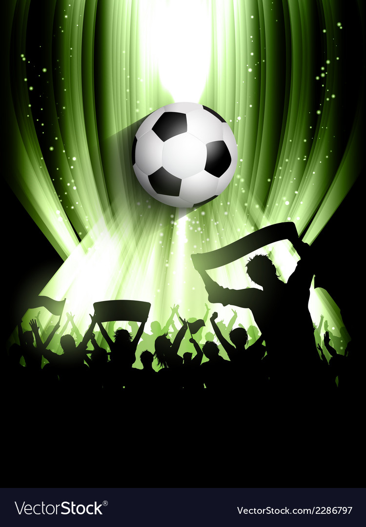 Football crowd background vector | Price: 1 Credit (USD $1)