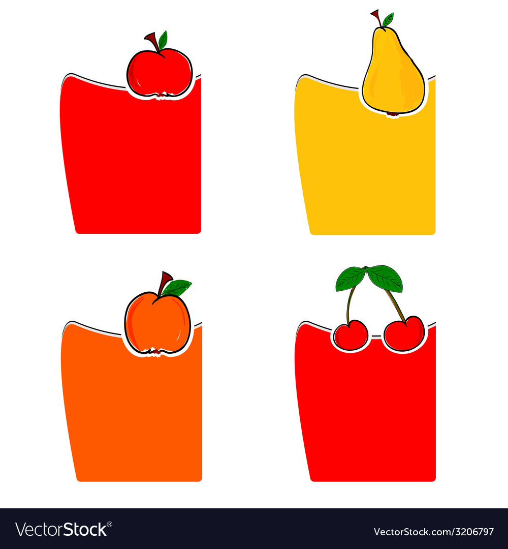 Fruit color vector | Price: 1 Credit (USD $1)