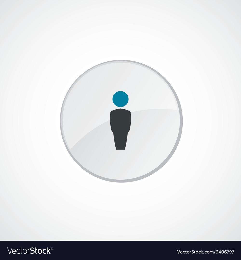 Male icon 2 colored vector   Price: 1 Credit (USD $1)
