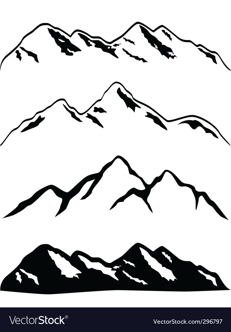 Mountain ranges vector