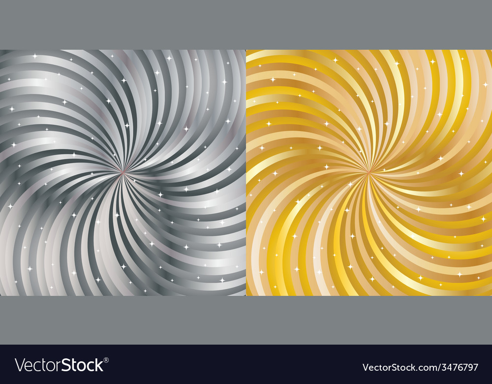 Shiny abstract background - gold and silver vector | Price: 1 Credit (USD $1)