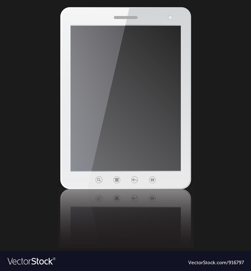 White tablet pc computer vector | Price: 1 Credit (USD $1)