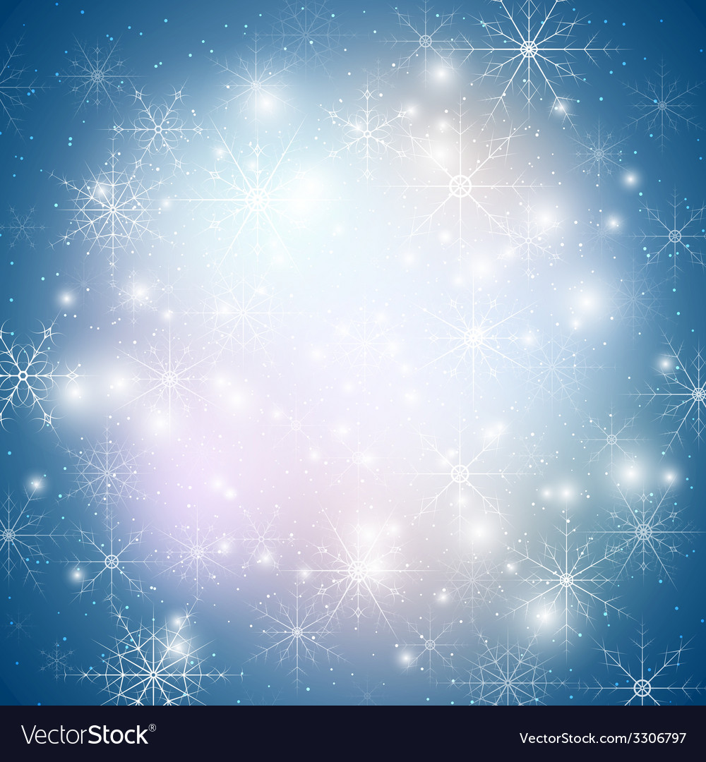 Winter background with snowflakes abstract winter vector | Price: 1 Credit (USD $1)