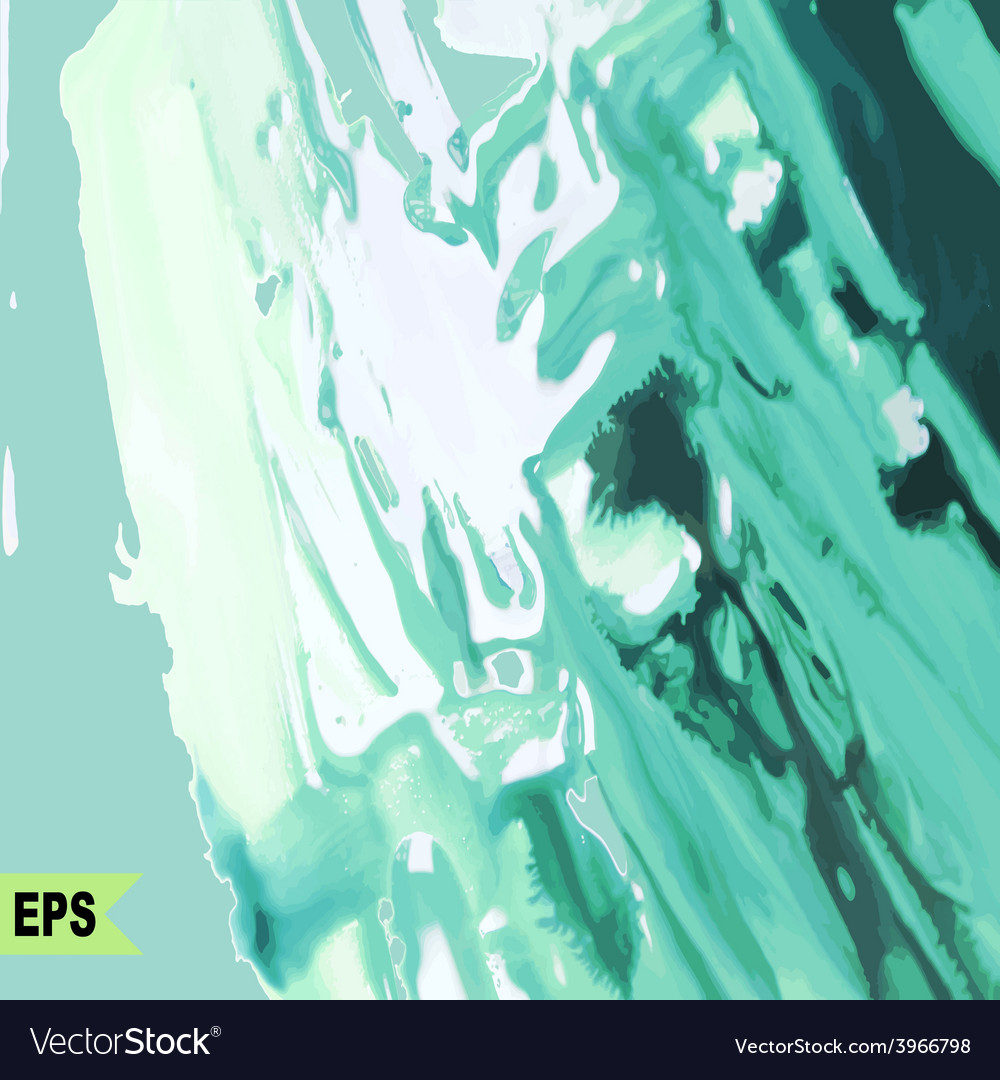 Abstract paint painting with green water vector | Price: 1 Credit (USD $1)