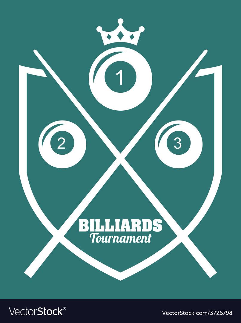 Billiard tournament design vector | Price: 1 Credit (USD $1)