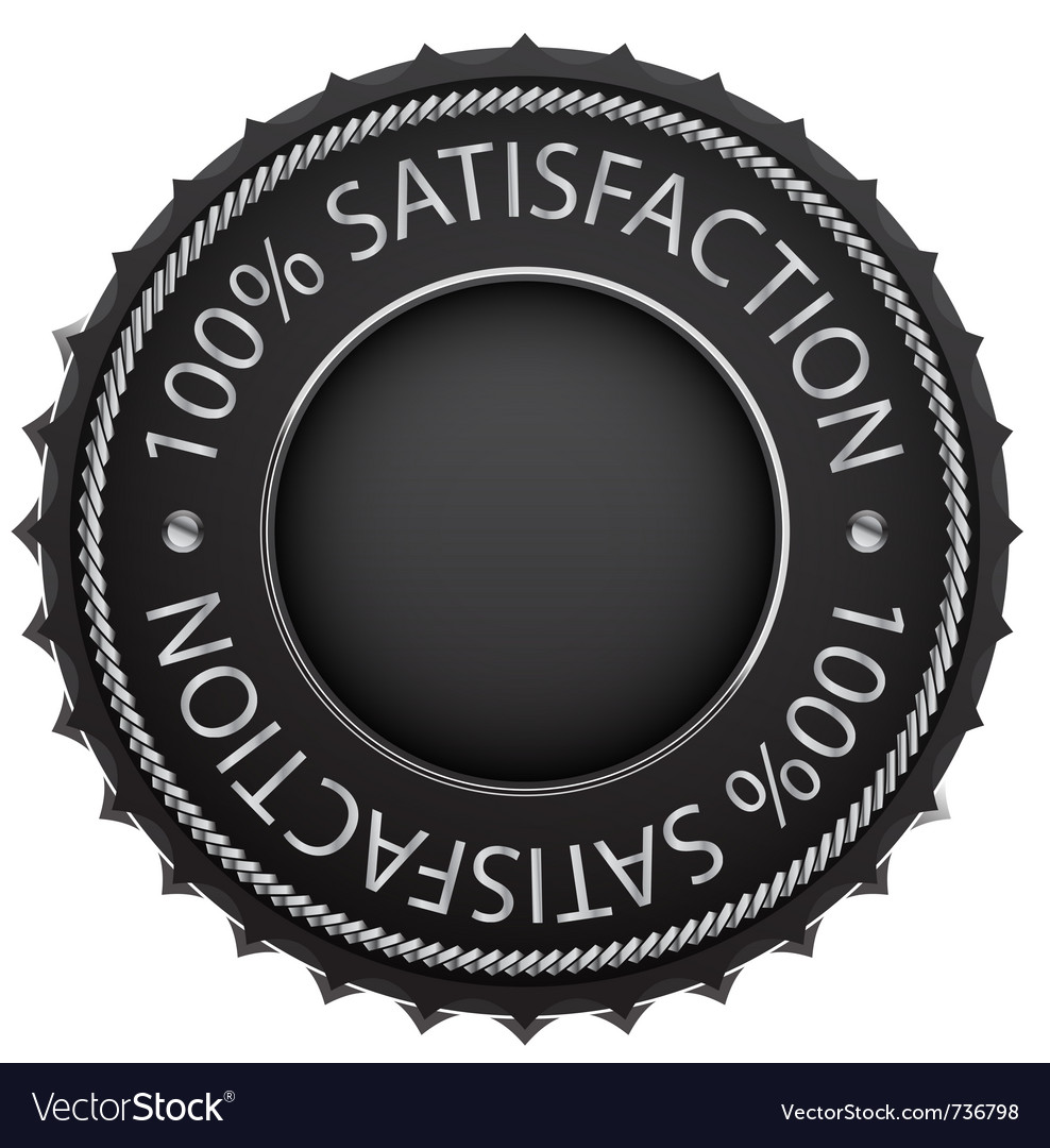 Black satisfaction label vector | Price: 1 Credit (USD $1)