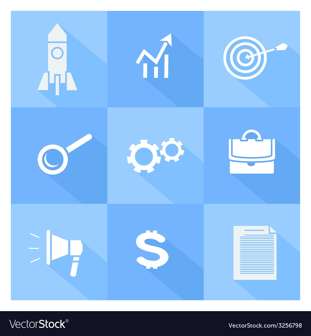 Business seo and social media marketing icons vector | Price: 1 Credit (USD $1)