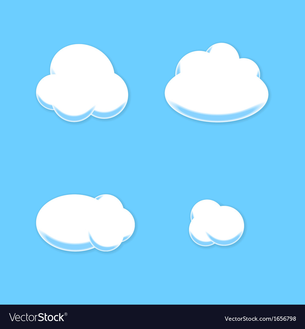 Comic cloud set cartoon style vector | Price: 1 Credit (USD $1)