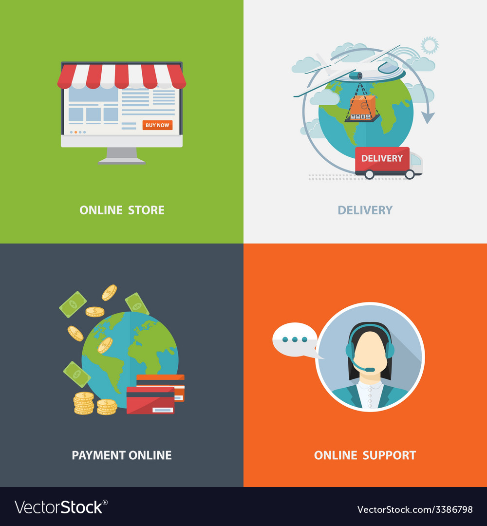 Concept of online shopping vector | Price: 1 Credit (USD $1)