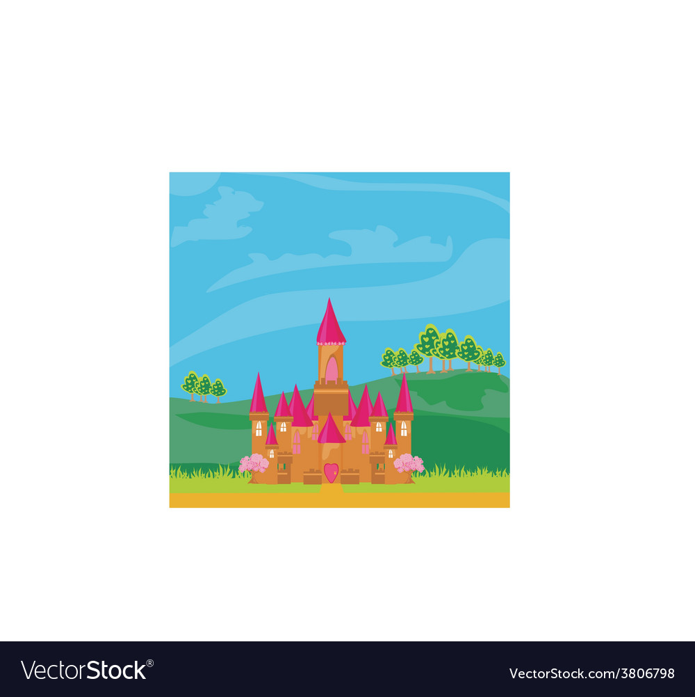Magic fairy tale princess castle vector | Price: 1 Credit (USD $1)