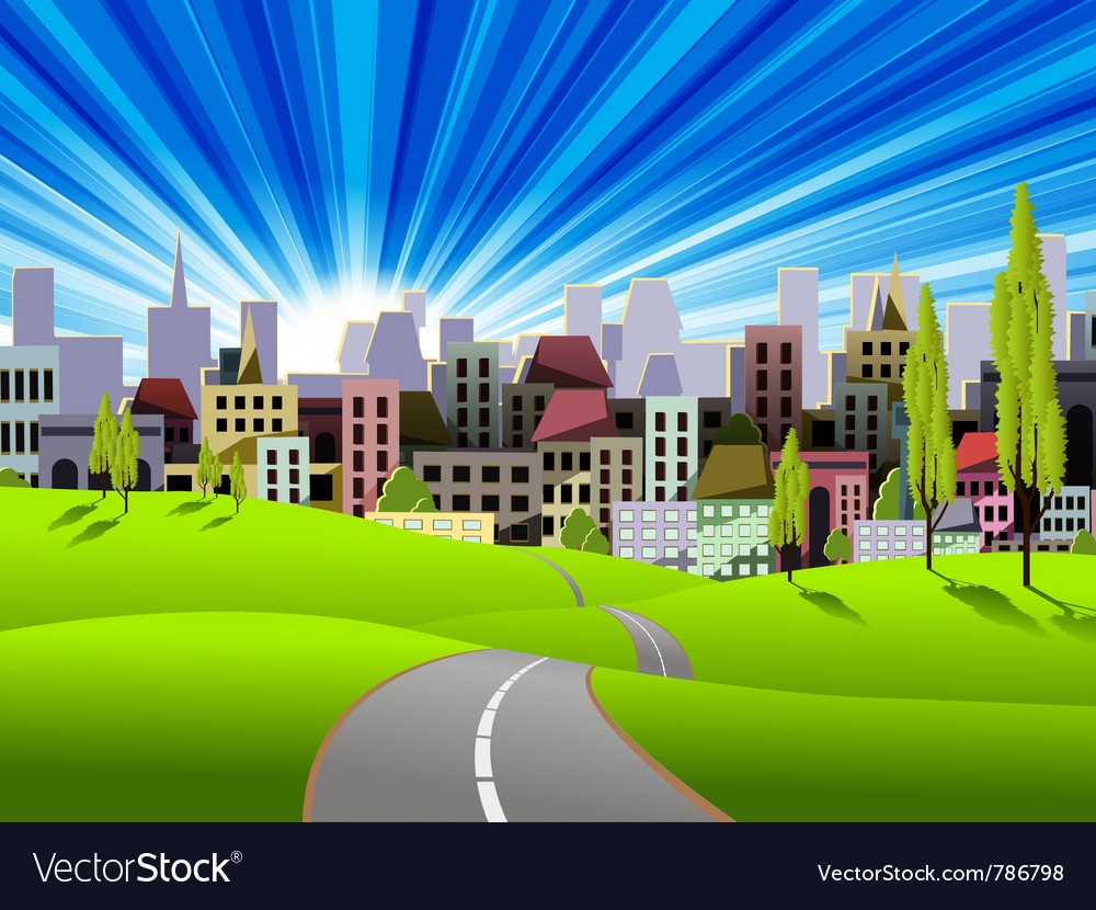 Modern city vector | Price: 3 Credit (USD $3)
