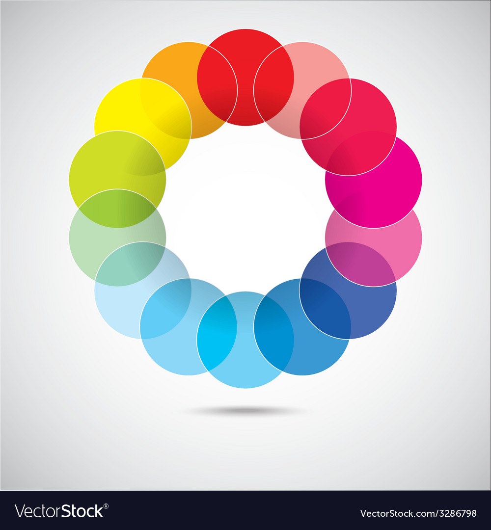 Modern colorful geometrical circles vector | Price: 1 Credit (USD $1)