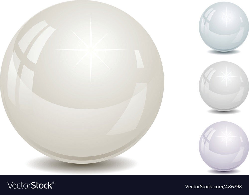 Set of color pearl vector