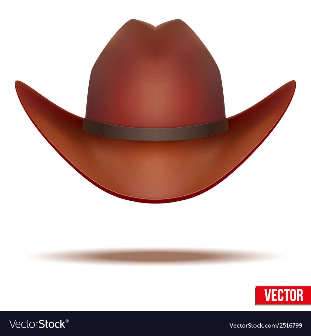 Brown cowboy hat  isolated on white background vector | Price: 1 Credit (USD $1)