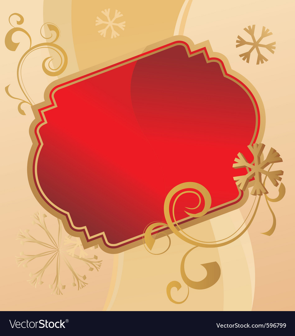 Christmas scroll vintage vector | Price: 1 Credit (USD $1)