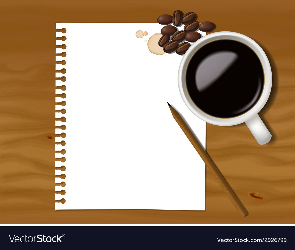 Coffee note vector | Price: 1 Credit (USD $1)