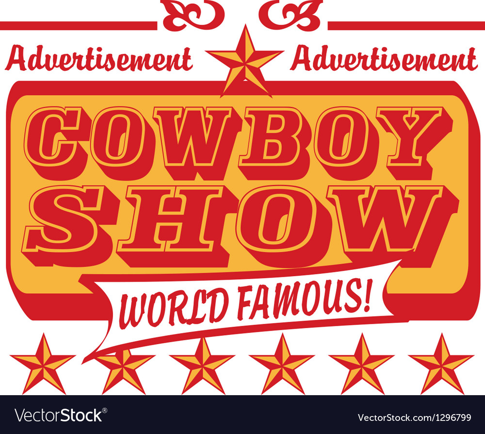 Cowboy show logo vector | Price: 1 Credit (USD $1)