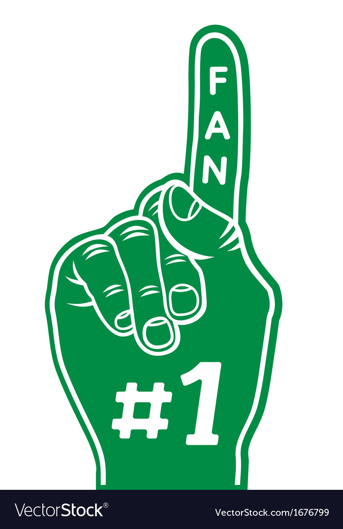 Foam finger zeleni resize vector | Price: 1 Credit (USD $1)