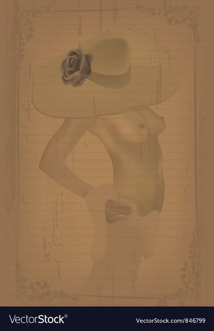 Grunge nude vector | Price: 1 Credit (USD $1)