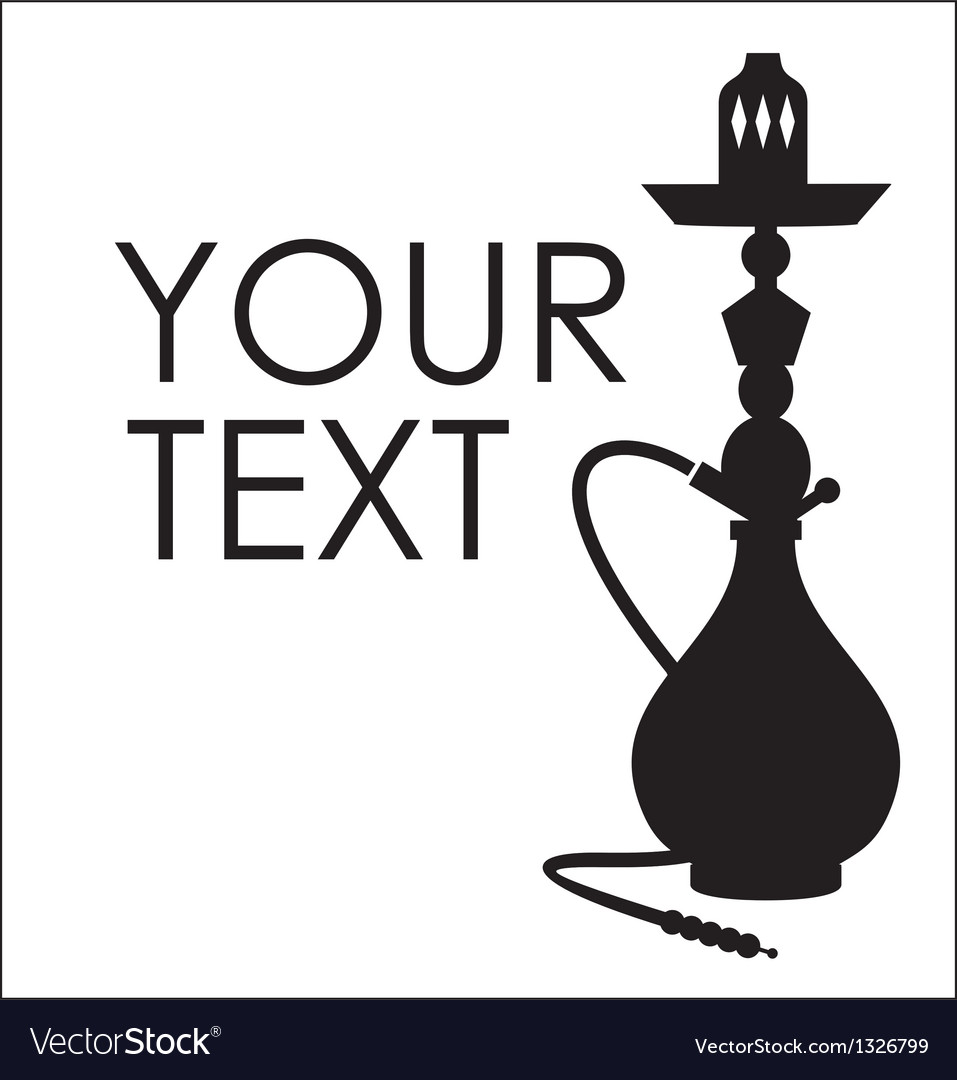 Hookah silhouette with sample text vector | Price: 1 Credit (USD $1)