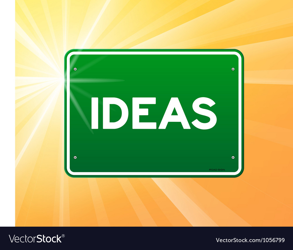 Ideas green sign vector | Price: 1 Credit (USD $1)