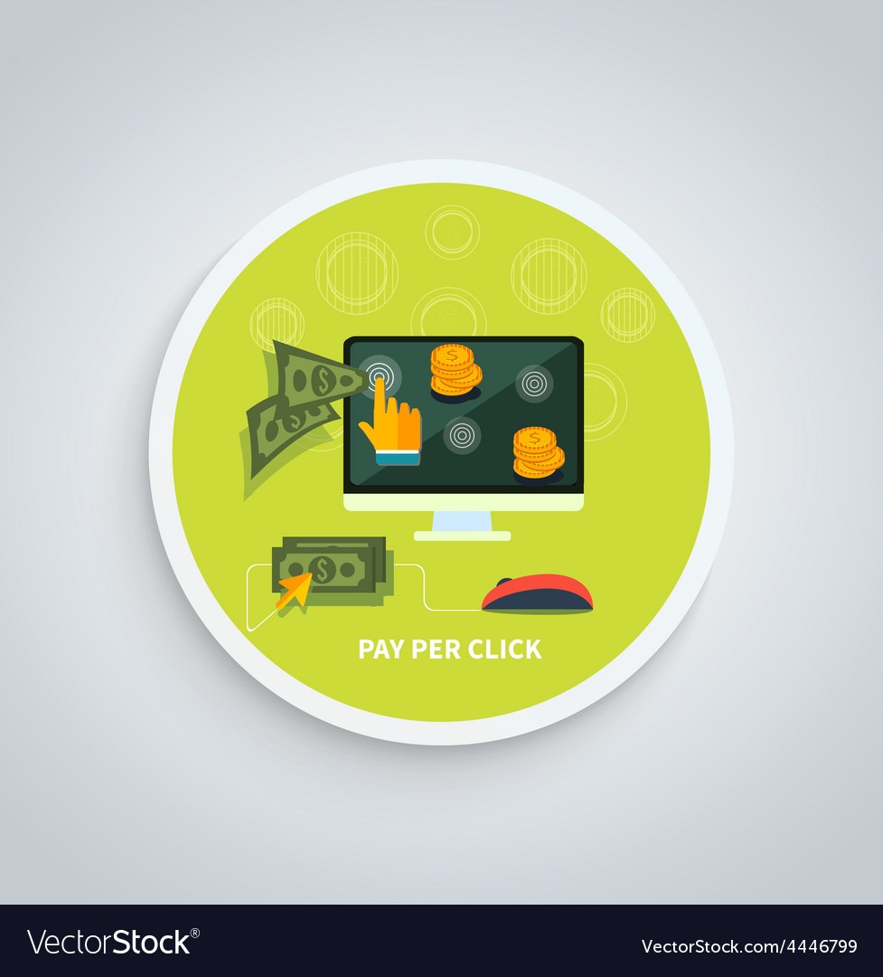 Pay per click internet advertising model concept vector | Price: 1 Credit (USD $1)