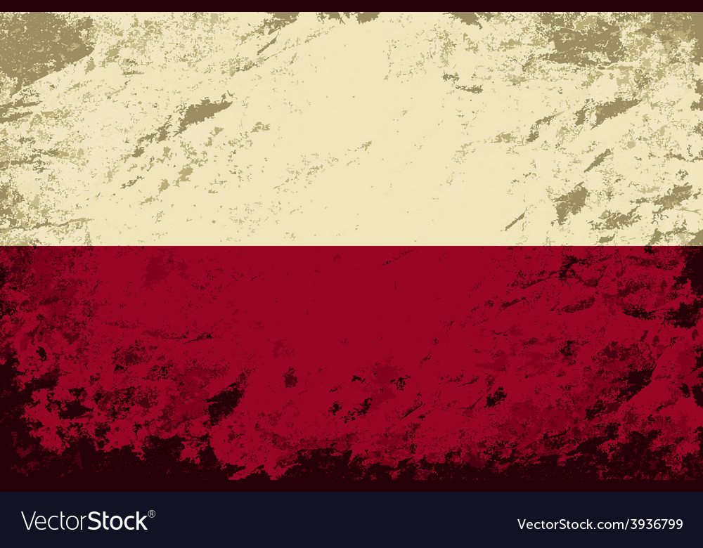 Polish flag grunge background vector | Price: 1 Credit (USD $1)