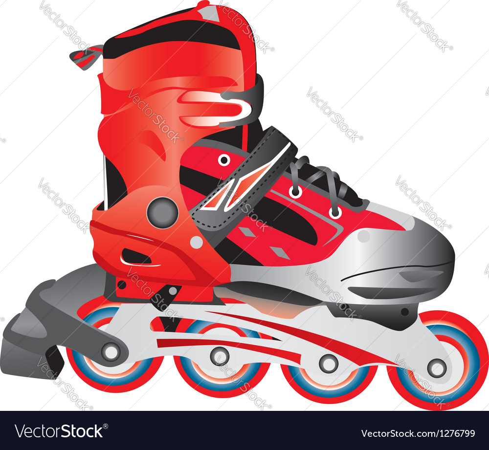 Red hot rollerblade vector | Price: 1 Credit (USD $1)