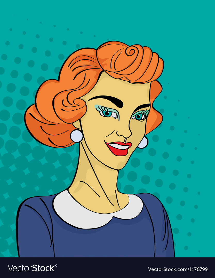 Retro woman vector | Price: 1 Credit (USD $1)