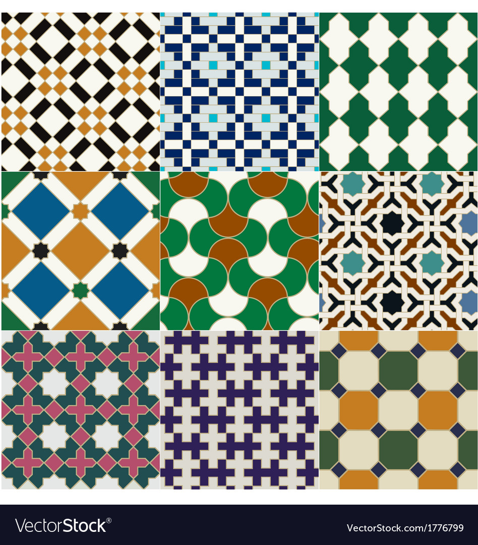 Seamless moroccan islamic tile pattern vector