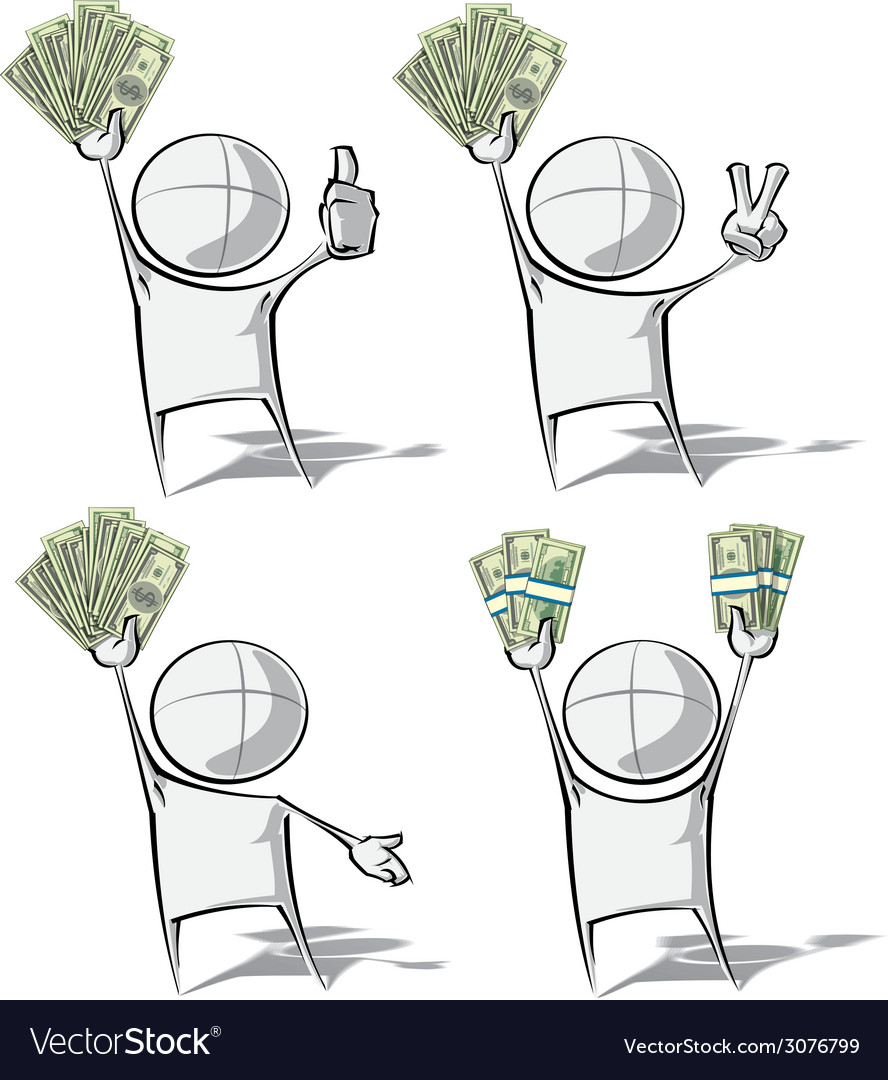 Simple people money vector | Price: 1 Credit (USD $1)