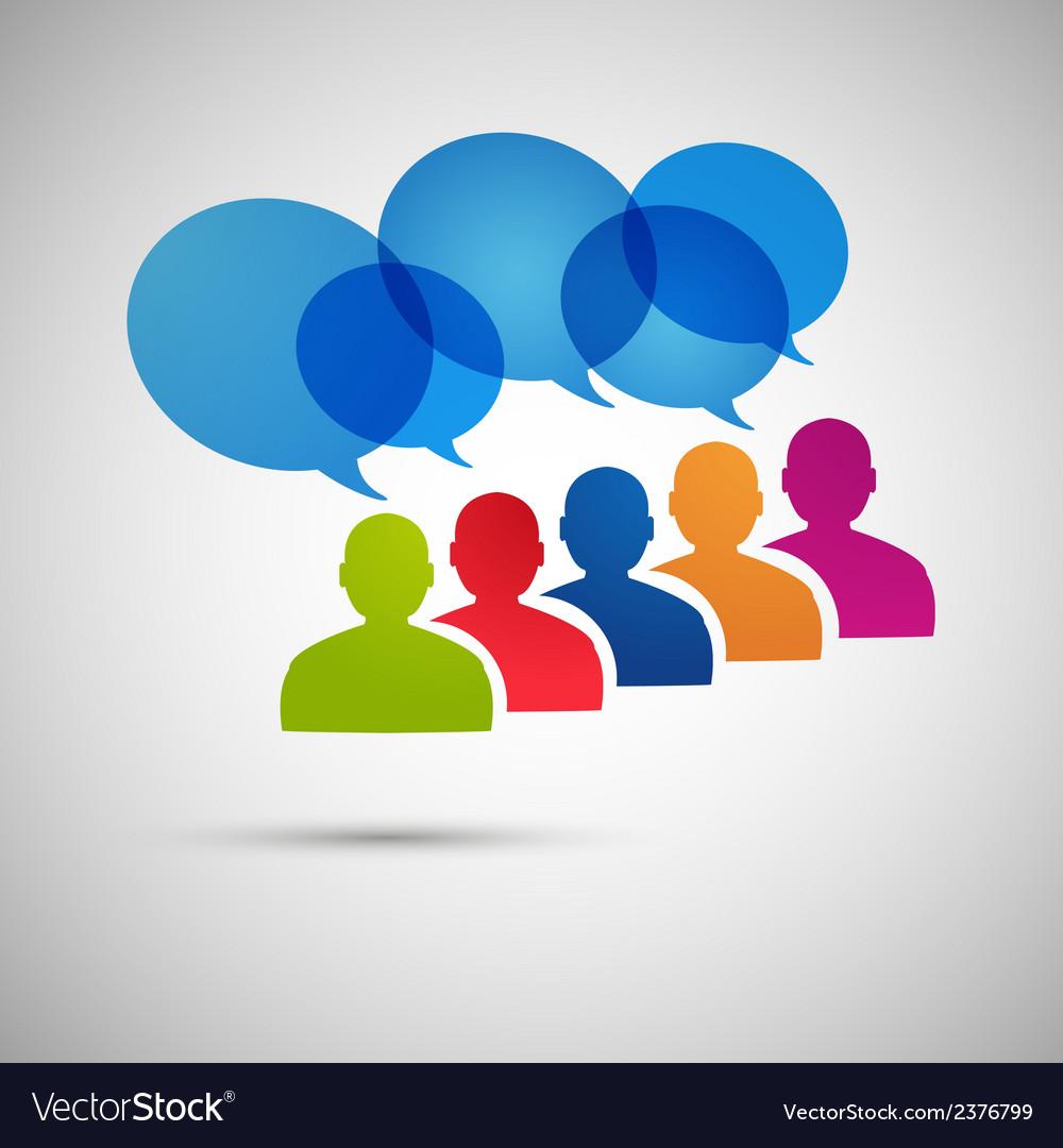 Speech dialog people eps vector | Price: 1 Credit (USD $1)
