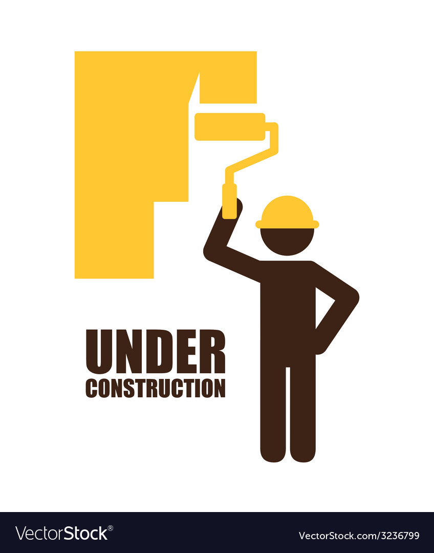 Under construction design vector | Price: 1 Credit (USD $1)