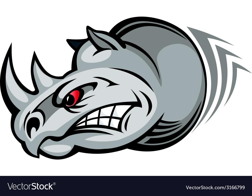 Wild rhino vector | Price: 1 Credit (USD $1)