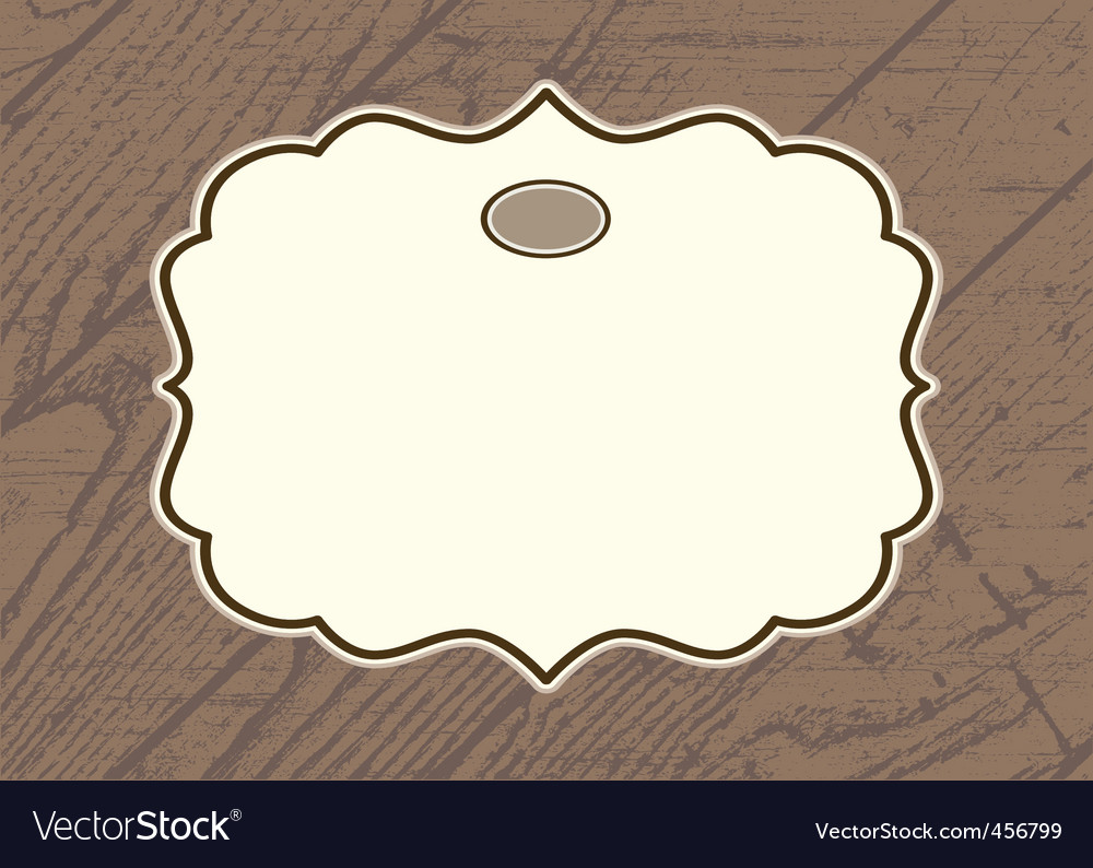 Wood background frame vector | Price: 1 Credit (USD $1)