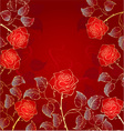 Golden red roses vector