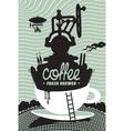 Fresh coffee preparation vector