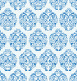 Blue vintage seamless pattern vector