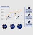 Business presentation template - line charts vector
