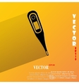 Medical thermometer flat modern web button with vector