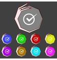 Check mark sign icon checkbox button set colur vector