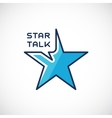 Star talk abstract logo template vector