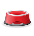 Dog bowl for food vector