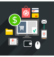 Internet purchase vector
