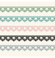 Horizontal seamless lace in five color versions vector