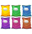 Colourful chips containers vector