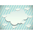 Vintage card with cut out clouds vector