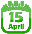 Icon of easter calendar vector