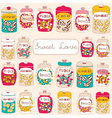 Candy seamless background vector
