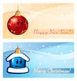 New year xmas greeting card vector